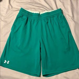 Men's Green UA basketball Shorts